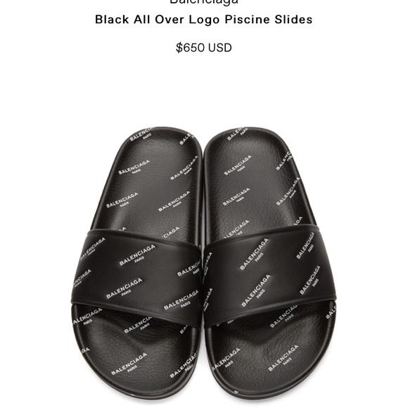 9d5e9f5a8b4 Balenciaga Shoes - Balenciaga slides in black❣️
